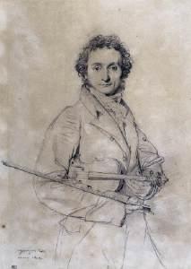 Ingres drawing of Paganini
